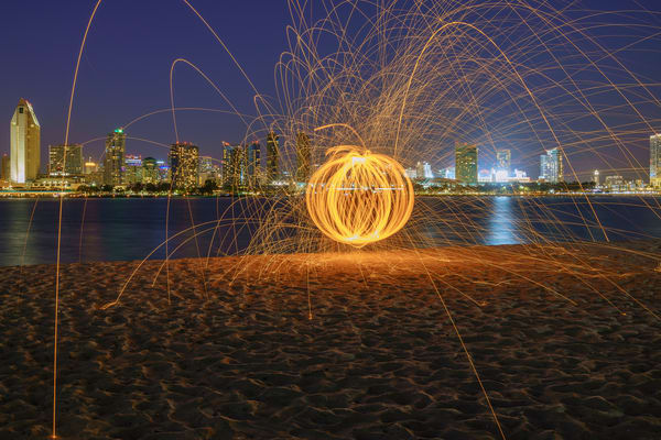 San Diego Skyline from Coronado Wall Art Print by McClean Photography
