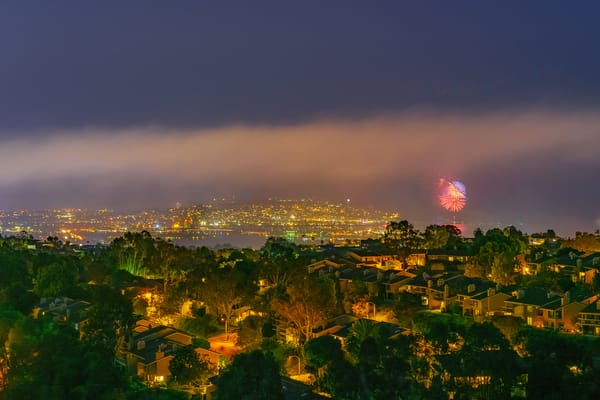 Mount Soledad, San Diego Fourth Of July Wall Art Print by McClean Photography