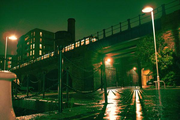 Docksland Light Railway At Night Art | Martin Geddes Photography