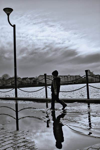 Boy And Puddle Art | Martin Geddes Photography