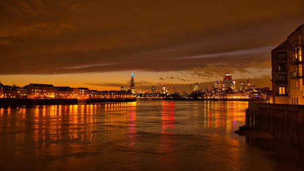 Shimmering Sunset Over The City Of London Art | Martin Geddes Photography