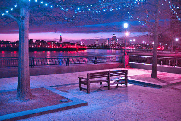 Canary Wharf Cyberpunk Sunset Art | Martin Geddes Photography