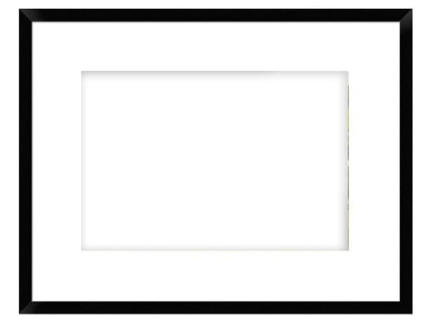 "A 6 3/4"" Matte Black Frame 