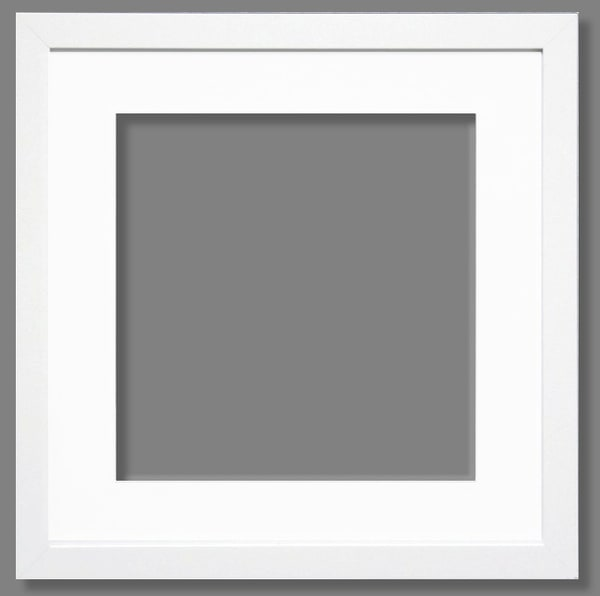 "A 7 7/8"" Matte White Frame 