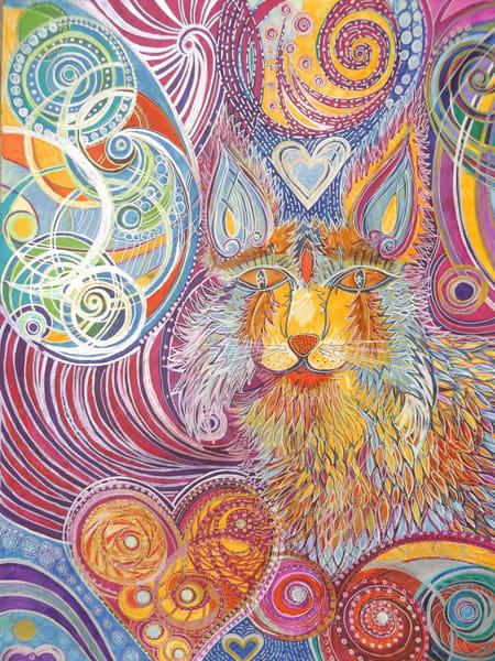 Backyard Bobcat Art   Cynthia Christensen Art