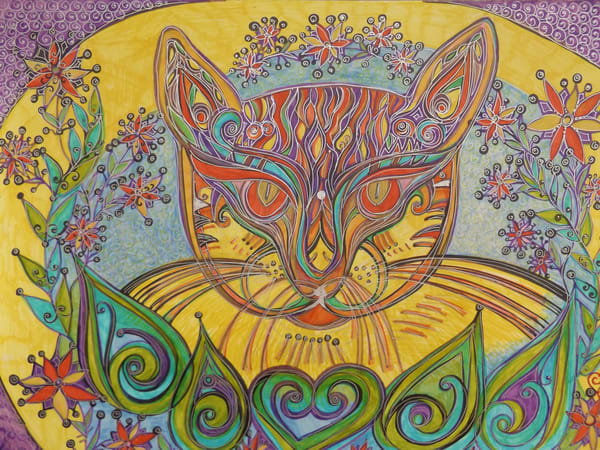 Cat's Meow Art   Cynthia Christensen Art