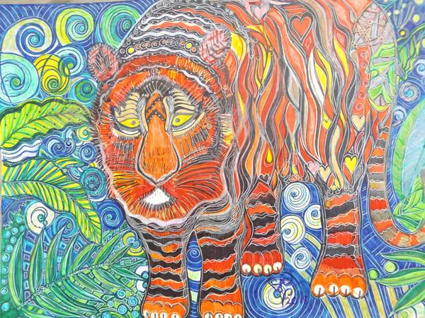 Tiger's Jungle Art   Cynthia Christensen Art