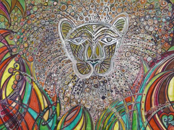 Lion's Jungle Art   Cynthia Christensen Art