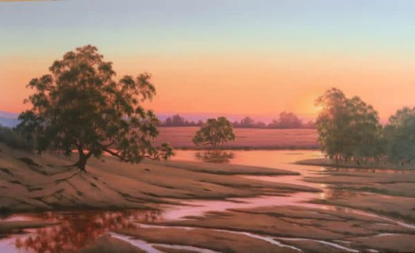 Califonia Wetland Sunset  Art | Terry Sauve Fine Art