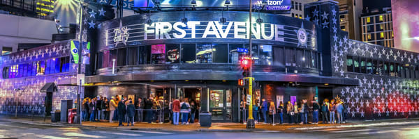 First Avenue At Night Photography Art   William Drew Photography