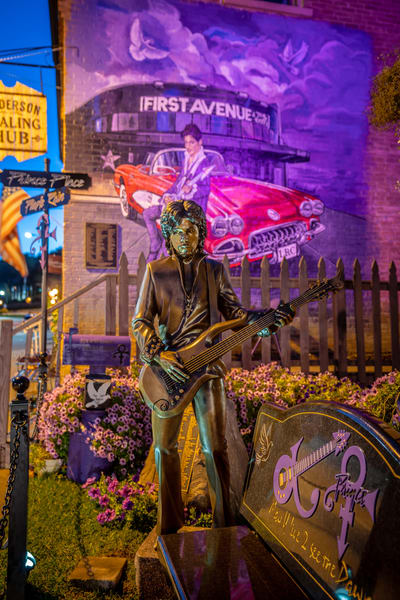 Prince Statue And Mural In Minnesota Photography Art | William Drew Photography