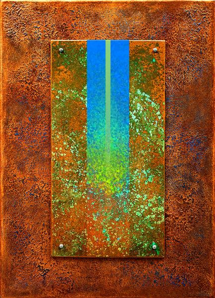 14 Golden Rayes With Blue 03 Asf  Art   Meta Art Studios