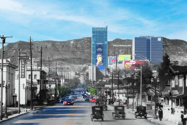 Vine Street North To The Hollywoodland Sign  Art | Mark Hersch Photography