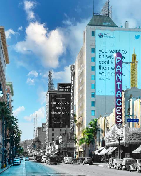 Hollywood Boulevard And The Pantages Theater Hollywood Art | Mark Hersch Photography