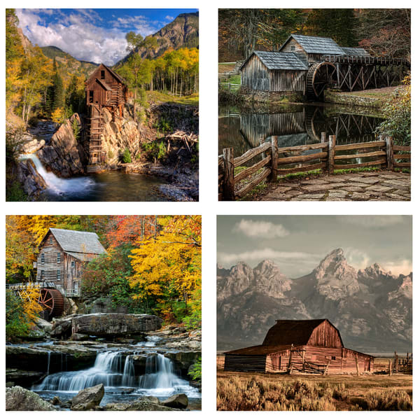 Barns And Mills Coaster Set | Ken Smith Gallery