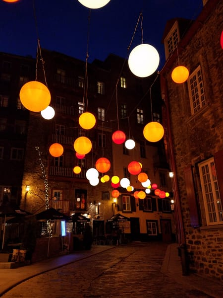 Floating Light In Old Quebec City   Limited Edition Matted Photography Art | Photoissimo - Fine Art Photography