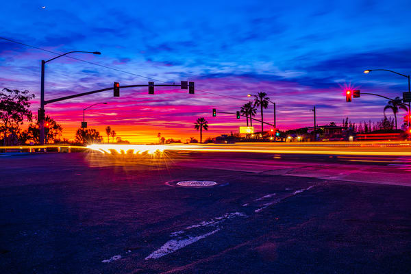 Normal Street, University Heights Colorful Sunset Wall Art Print by McClean Photography