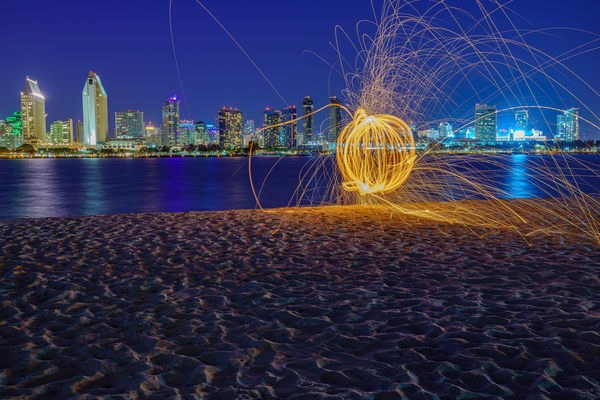 San Diego Skyline from Coronado Pumpkin Wall Art Print by McClean Photography