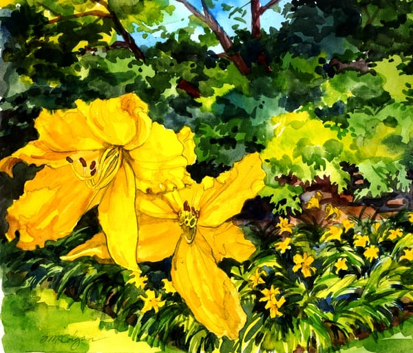 Lilies In Yellow Art | susie mccolgan art