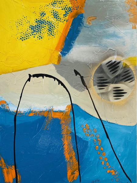 """""""Just Jazzy"""" Original 30 X 40 Art   Garry Scott Wheeler Artwork LLC"""