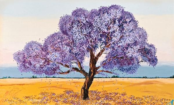 Jacaranda Blessings   Original Oil Painting Art | Tessa Nicole Art