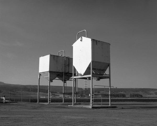 California Landscape Photography - Grain Towers as Epic Sculpture