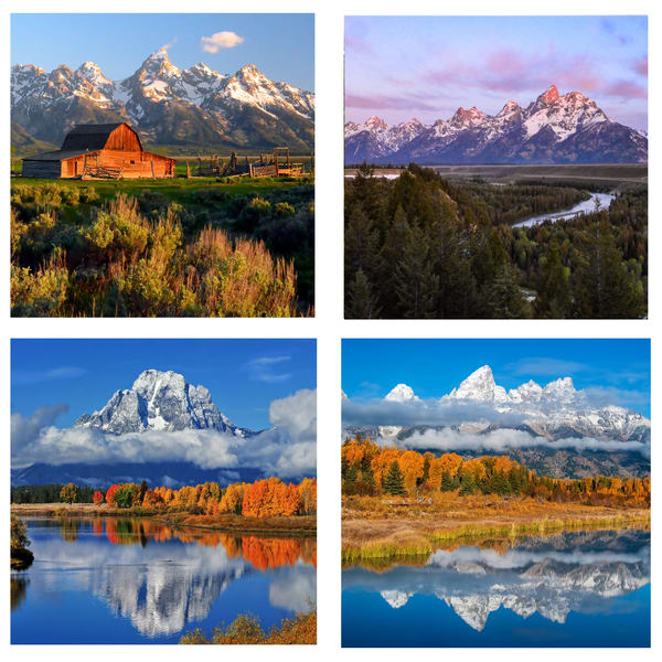 Grand Tetons Coaster Set | Ken Smith Gallery