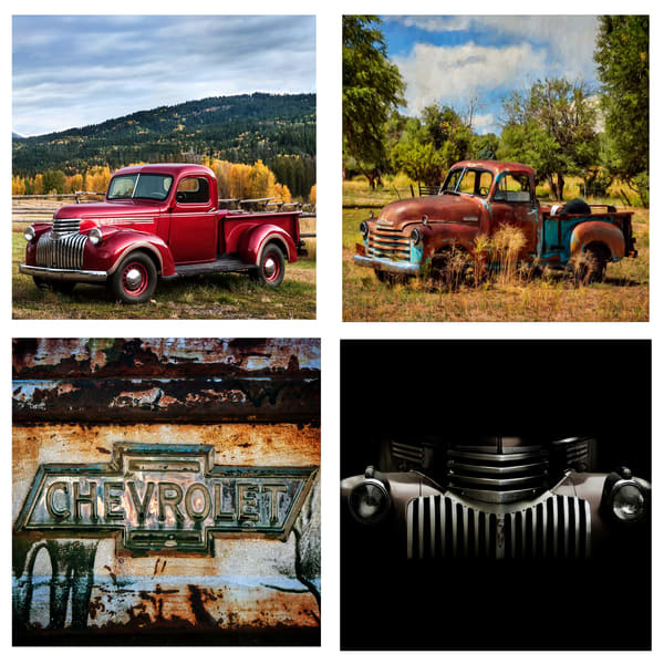 Chevy Truck Coaster Set | Ken Smith Gallery