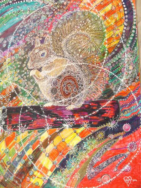 Vermont Squirrel Art   Cynthia Christensen Art