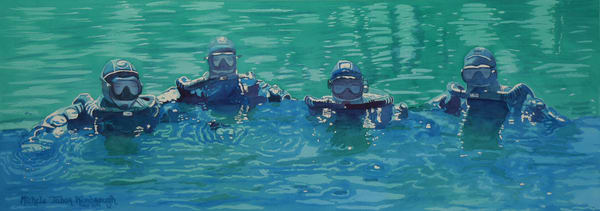 Cave Diving Adventuerers Art | Michele Tabor Kimbrough