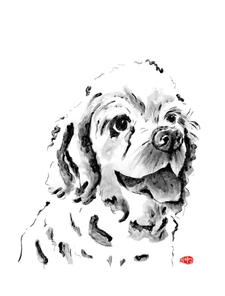 Coco Puff: Cocker Spaniel Art | Youngi-Sumistyle pets