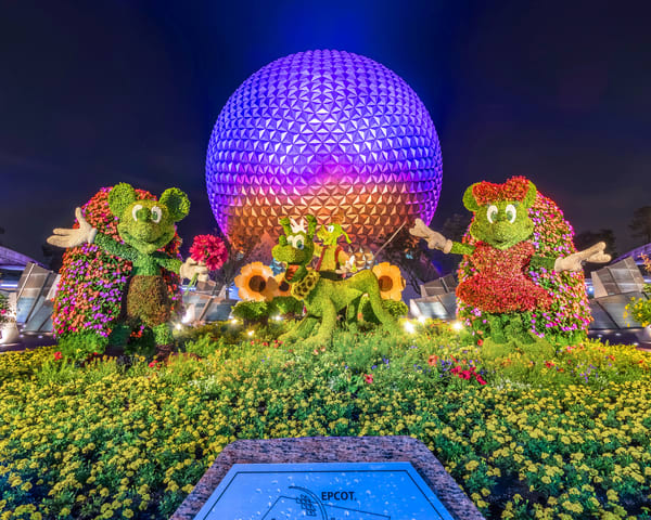 Spaceship Earth At Night 17 Photography Art | William Drew Photography