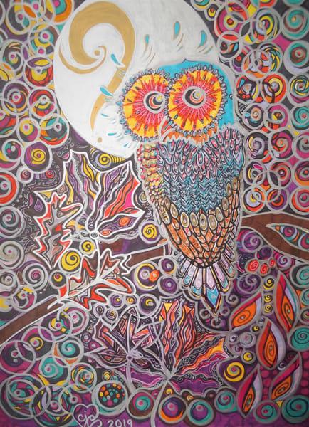 October Owl Art   Cynthia Christensen Art