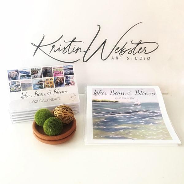 2021 Wall And Desk Calendars | Kristin Webster Art Studio