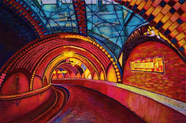 NYC FIRST UNDERGROUND TRAIN STATION