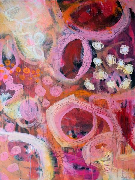 Pink Lemonade Bliss Art | Jessica Hughes Fine Art