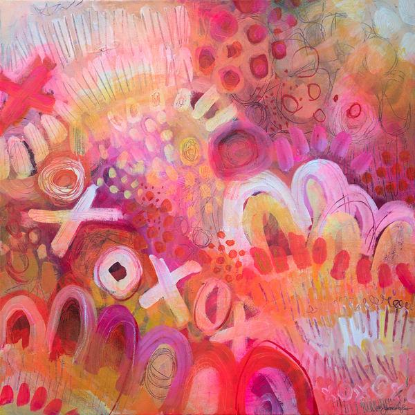 Pink Lemonade Xoxo Art | Jessica Hughes Fine Art