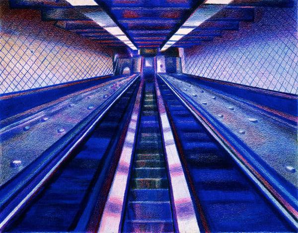 The 181 St Escalators To Upper Manhattans  Heights & Gw Bridge   lencicio