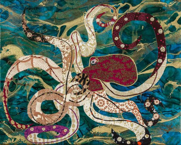 Purple Octopus Art | capeanngiclee