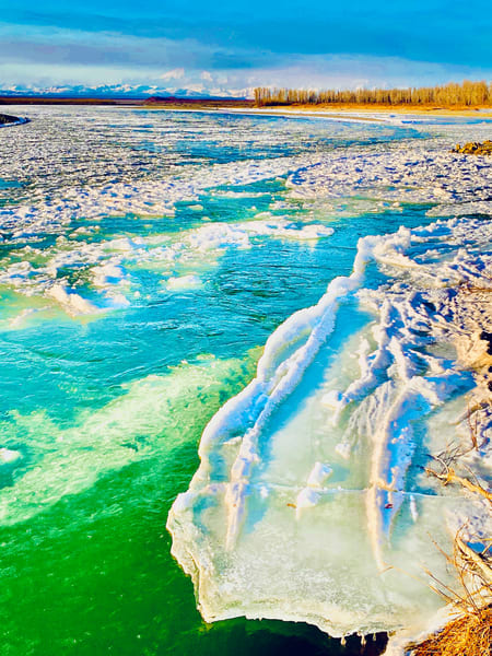 Susitna Icing Up Photography Art   Visionary Adventures, LLC