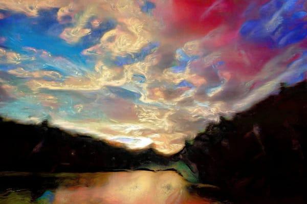 Lac Rheaume West Fiord Sunset Art | Maciek Peter Kozlowski Art