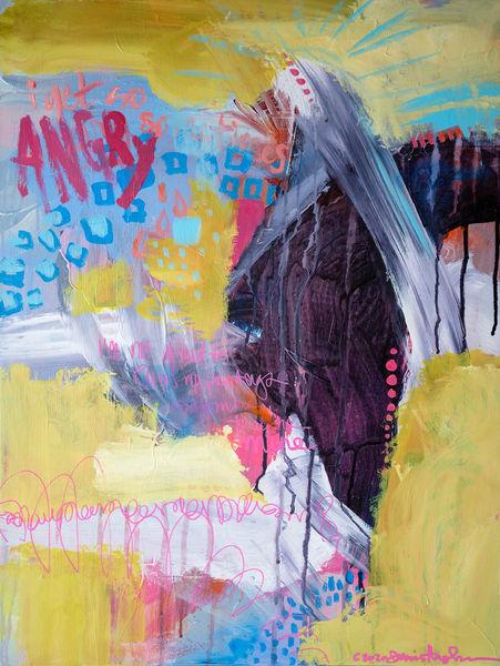 Sometimes I Get Angry, Original Painting Art   Jessica Hughes Fine Art