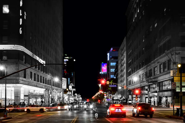 Hollywood And Vine At Night Art | Mark Hersch Photography