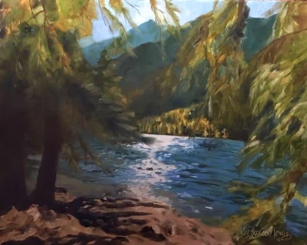 Cottonwood Lake Memories 1   Jan Thoreen Lewis Fine Art