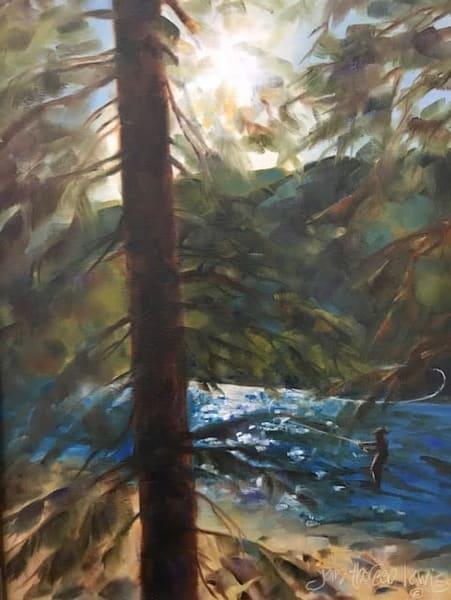 Cottonwood Lake Memories 2   Jan Thoreen Lewis Fine Art