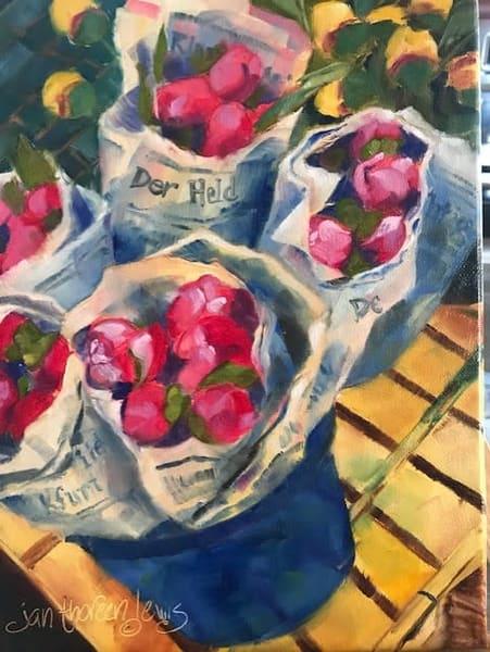 Durnstein Farmers' Market   Jan Thoreen Lewis Fine Art