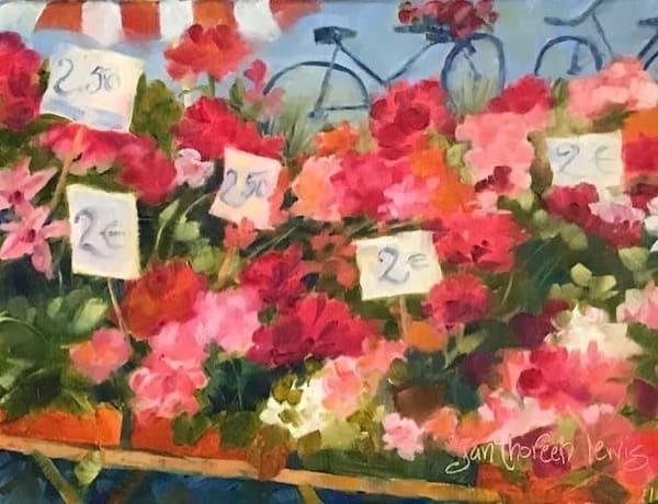 French Market Flowers   Jan Thoreen Lewis Fine Art