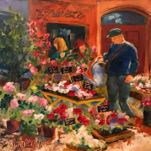 Le Fleuriste   Jan Thoreen Lewis Fine Art