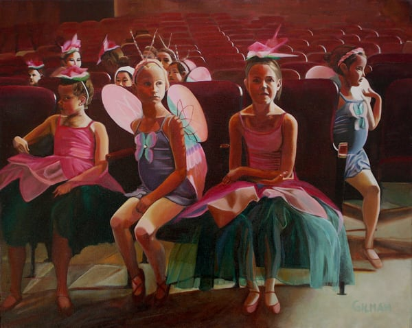 """The Ballet Rehearsal"" Oil on Canvas by Emily Gilman Beezley"