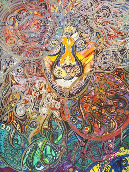 Lion In Sun Art   Cynthia Christensen Art